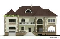 Проект дома из газосиликатных блоков Ладо3 фасад 1