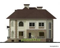 Проект дома из газосиликатных блоков Ладо3 фасад 2
