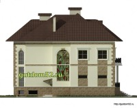Проект дома из газосиликатных блоков Ладо3 фасад 3