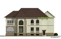 Проект дома из газосиликатных блоков Ладо3 фасад 4