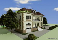 Проект дома из газосиликатных блоков Ладо3 эскиз 2