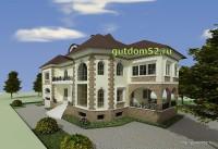 Проект дома из газосиликатных блоков Ладо3 эскиз 3