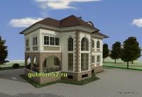 Проект дома из газосиликатных блоков Ладо3 эскиз 4