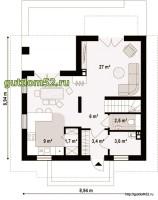 Планировка первого этажа дома из блоков
