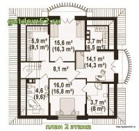 План второго этажа дома ГБ101
