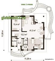 План первого этажа дома ГБ101