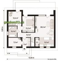 план с планировкой 1-го этажа