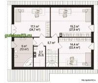 план с планировкой 2-го этажа
