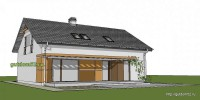 видовой эскиз дома из блоков 2