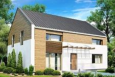 Проект дома Б21 из блоков площадью 154 м2, 225