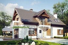 Проект дома из блоков Б14 площадью 161 м2