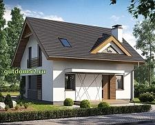 Проект дома из блоков Б15 площадью 109 м2