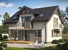 Проект дома из блоков Б16 площадью 131 м2, 225