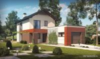 Проект дома из блоков Б17 для узкого участка, 1