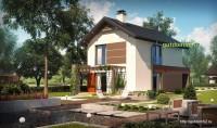 Проект дома из блоков Б17 для узкого участка, 2