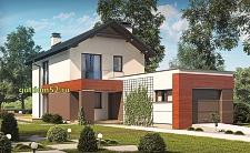 Проект дома из блоков Б17 для узкого участка, 225