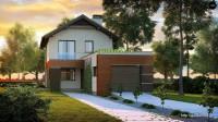 Проект дома из блоков Б17 для узкого участка, 3