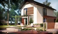 Проект дома из блоков Б17 для узкого участка, 4