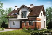Проект дома из блоков Б18 площадью 160 м2, 1