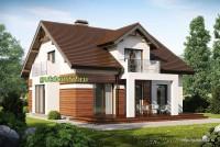 Проект дома из блоков Б18 площадью 160 м2, 2