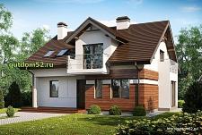 Проект дома из блоков Б18 площадью 160 м2, 225