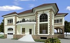 Проект дома из блоков Влад3