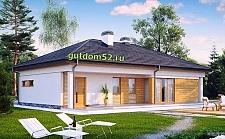 Проект дома из блоков ГБ100 площадью 147 м2 с гаражом на два