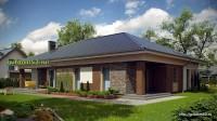 Проект дома из блоков ГБ102 площадью 190 м2, эскиз 3