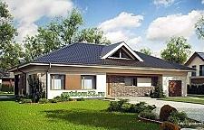 Проект одноэтажного дома из блоков ГБ102 площадью 190 м2