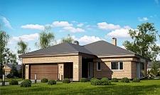 Проект одноэтажного дома с гаражом площадью 166 м2, 225