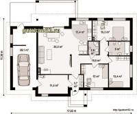 Планировка одноэтажного дома из блоков