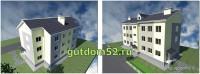 Проекты малоэтажных домов, эскиз 1