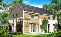 Проект дома Б21 из блоков площадью 154 м2, эскиз 2