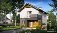 Проект дома Б23 площадью 94 м2, эскиз 2