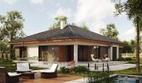 Проект одноэтажного дома Б22 площадью 189 м2, эскиз 2