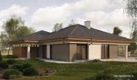 Проект одноэтажного дома Б22 площадью 189 м2, эскиз 3
