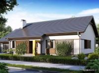 Проект одноэтажного дома Б24 площадью 147 м2, эскиз 1