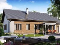 Проект одноэтажного дома Б24 площадью 147 м2, эскиз 2