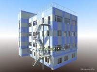 Проект административного здания, эскиз 2