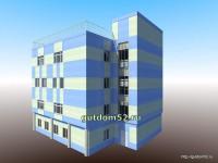 Проект административного здания, эскиз 4