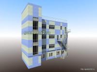 административное здание проект, эскиз 1