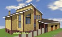 Проект двухэтажного дома, эскиз 1