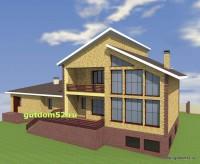 Проект двухэтажного дома, эскиз 2