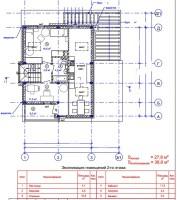 план мансардного этажа дома