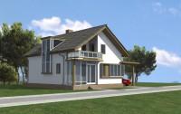 проект дома с мансардой площадью 97 м2