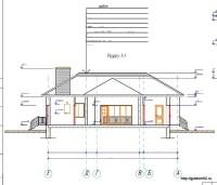 разрез одноэтажного дома