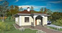 проект одноэтажного дома, видовой эскиз 1