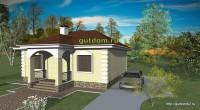 проект одноэтажного дома, видовой эскиз 2