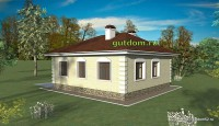 проект одноэтажного дома, видовой эскиз 3