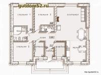 Планировка одноэтажного дома из газоблоков 1